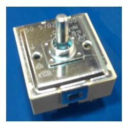 Selector de potencia vitrocerámica con rosca sujección en eje