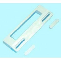 Kit tirador de puerta blanco 18,8x6,5 cm (Min: 9,5, Max 17 cm) de frigorífico Universal
