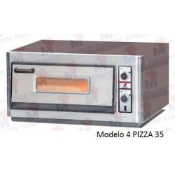 Horno para pizzas eléctrico Masamar H4P-330