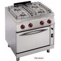 Cocina a gas Modular Granita 7CBG16(con Horno)