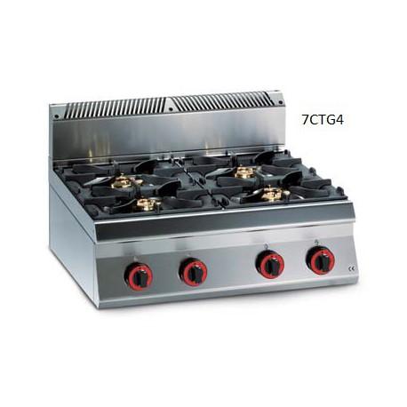 Cocina Top a gas Granita 7CTG4