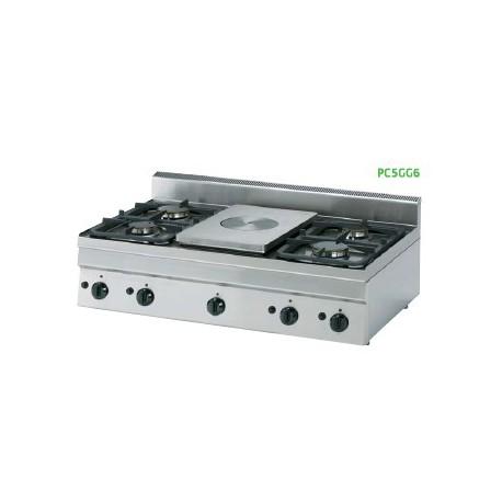 Cocina a gas Crystal Line Línea 600 PC70G6