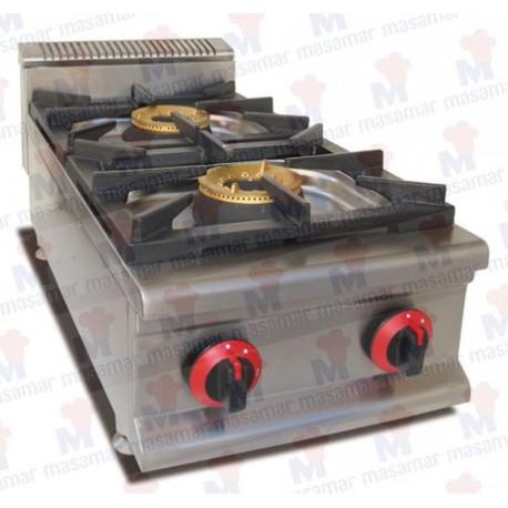 Cocina a gas Masamar CQL-2FV