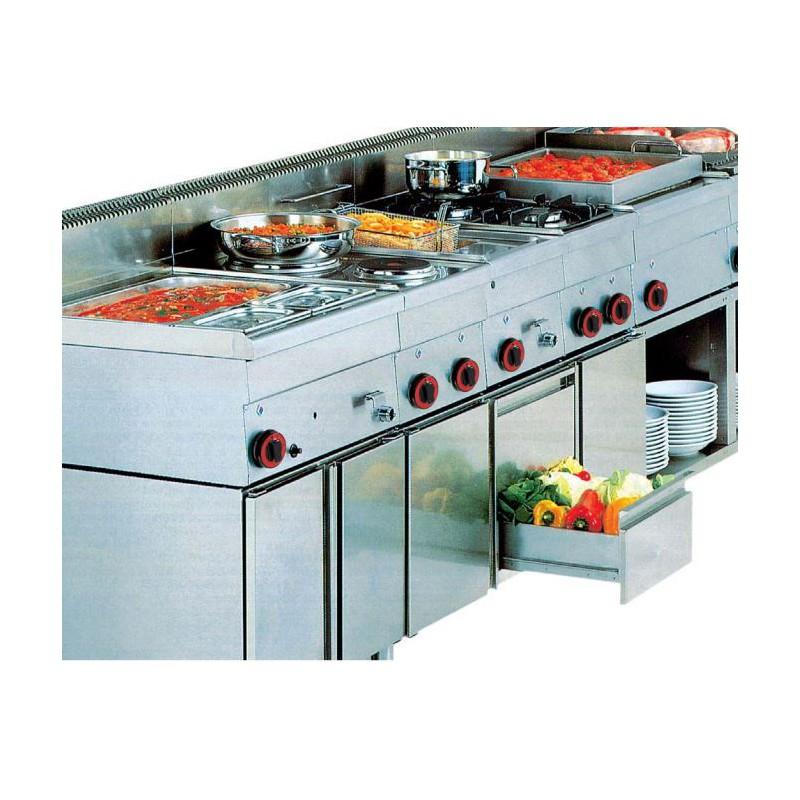 Cocina el ctrica con horno granita 7pche04 equipamiento - Cocina con horno ...