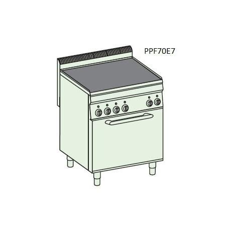 Plancha + horno eléctricos GN2/1 Crystal Line Línea 700 PPF70E7