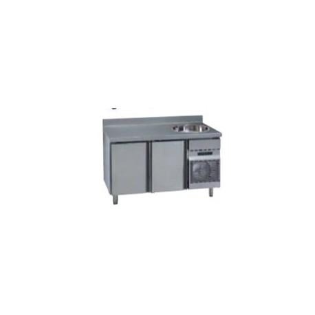 Mesas Refrigeradas con Fregadero MCG/MNG 1500 F. Gama Stile GN 1/1