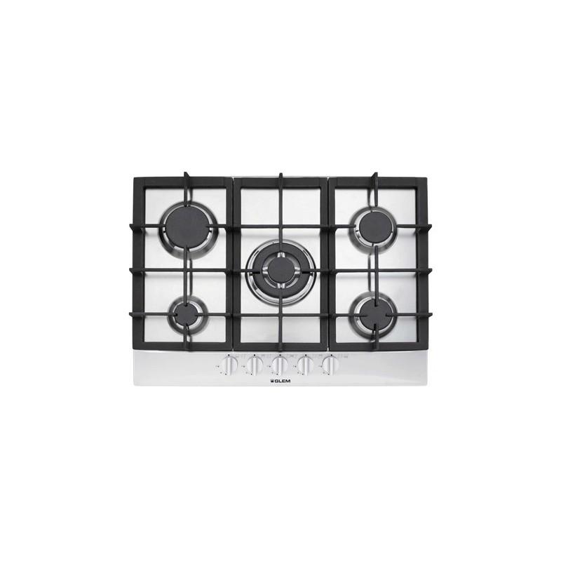 Encimeras a gas glem en72ib cocina for Cocina encimera a gas