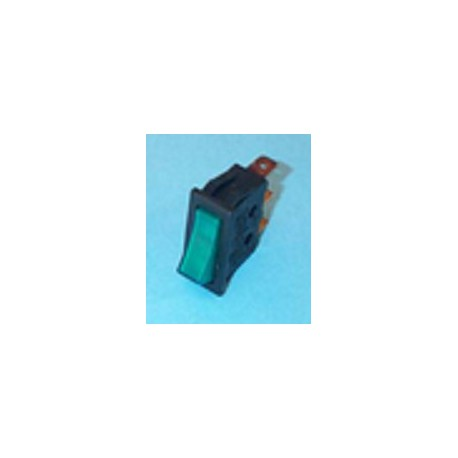 Interruptor unipolar piloto verde de lavadora Universal 11x30 mm