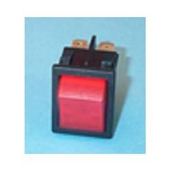 Interruptor bipolar rojo de lavadora Universal 27,3x24,9 mm