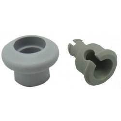 Rueda y eje de cesto de 18,5 mm de lavavajillas Balay, Crolls, Lynx, Superser 3VE4527, 3VI440A, V4511R, V4520R