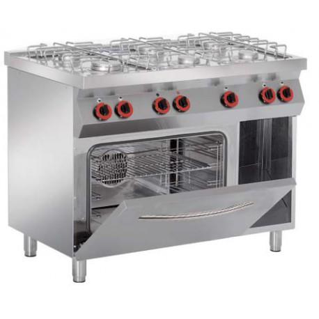 Cocina a gas con Horno Granita 7PCHG61 + Grill