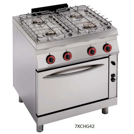 Cocina a gas Modular Granita 7XCHG62(con Horno)