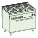 Cocina a gas + horno a gas fullsize (+ rejilla) Crystal Line Línea 700 Basic EFX105GGE7