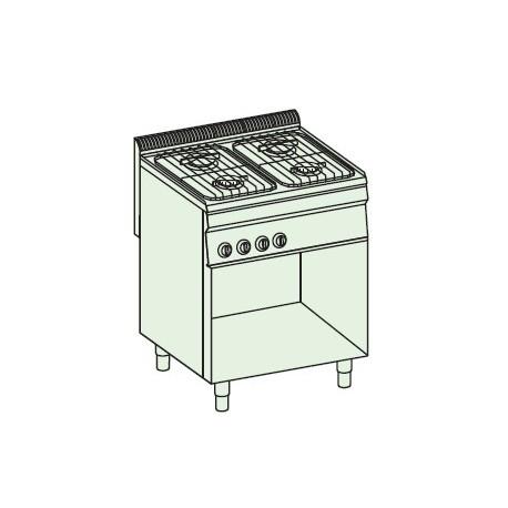 Cocina a gas + módulo bajo Crystal Line Línea 700 Basic EC70FG7