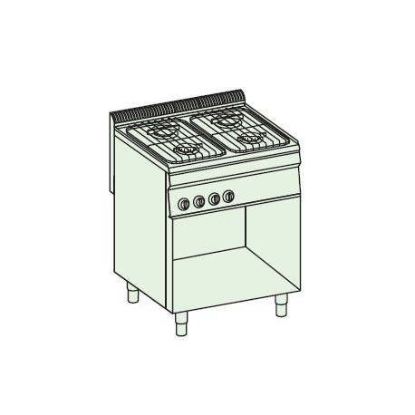 Cocina a gas + módulo bajo Crystal Line Línea 700 Basic EC70FSG7