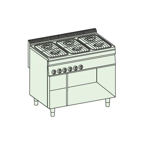 Cocina a gas + módulo bajo Crystal Line Línea 700 Basic EC105FG7
