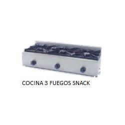 Cocina a gas Movilfrit  COCINA 3 FUEGOS SNACK