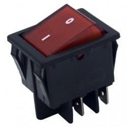 Interruptor bipolar universal rojo 4 contactos, 27,3x24,9m m FER14AG017