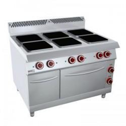 Cocina Mural eléctrica Zinco 8CQE26 6 placas+horno y armario